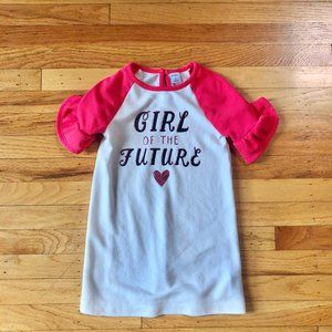 Toddler Girl Graphic Pink Sweater Dress - Old Navy